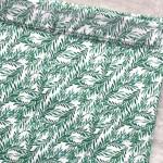 Хлопок Зелень в саду, на белом фоне, размер 33х50 см, Unicornfabrics, LI000229