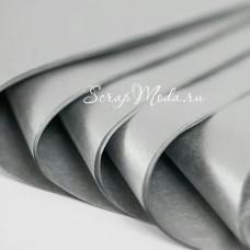Бумага Тишью, Серебро, мягкая, 660х500 мм., цена за 5 листов, BU000242
