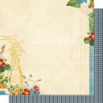 Бумага двусторонняя, плотная, 300х300 мм., Spring Market, Webster's Pages