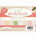 Набор односторонней Бумаги Nursery-Baby Girl, 114x165 мм., 24 листа, DCWV, 1\3 набора