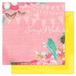 Бумага плотная двусторонняя, 000602, Celebration - Spring Jubilee, Pink Paislee