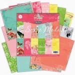 Набор Бумаги Spring Jubile, 1\2 набора, 150х150 мм., 12 листов, Pink Paislee, Коллекция 2012