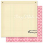 Бумага плотная двусторонняя, Corner Boutique, Vintage Vogue, Pink Paislee