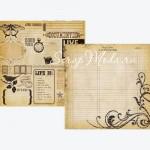 Бумага двусторонняя плотная, 2304, Documented, Simple Stories