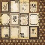 Бумага двусторонняя плотная, 2309, Documented, Simple Stories