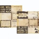 Бумага двусторонняя плотная, 2310, Documented, Simple Stories