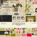 Набор плотной двусторонней Бумаги FESTIVE Collection 1051, 305х305 мм., Authentique