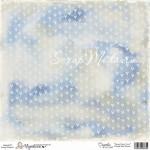 Бумага односторонняя, Sweet Crazy Love, Blue 1065, 150х150 мм, Magnolia, 2012