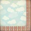 Бумага плотная двусторонняя Friendly Skies, Collection What's Up, 300х300 мм., Basic Grey, BU001098