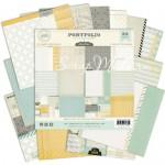 Набор Бумаги Portfolio, 1\2 набора, плотная односторонняя, 150х150 мм., 12 листов, Pink Paislee