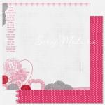 Бумага плотная двусторонняя, 1140, Endlee Love - Secret Crush, 300х300 мм., Pink Paislee