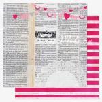 Бумага плотная двусторонняя, 1142, Love Notes - Secret Crush, 300х300 мм., Pink Paislee
