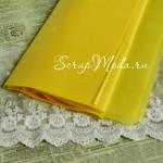 Бумага Тишью, Желтая, мягкая, 660х500 мм., цена за 1 лист,  BU001148