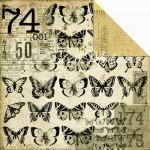 Двусторонняя бумага Butterflies 1191, Treasures Collection, 300x300 мм., 160 gsm, Kaiser Craft