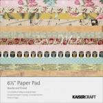 Набор бумаги - Needle and Thread 1201, 150x150 мм., 36 листов, 160 gsm, 18 разных дизайнов, по 2 каждого дизайна, Kaiser Craft