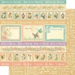 Бумага двусторонняя Spring has Sprung, Коллекция Sweet Sentiments, 300x300 мм., 2013, Graphic 45, BU001293