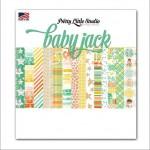 Набор односторонней матовой бумаги Baby Jack, 200х200 мм., 14 листов, Pretty Little Studio, BU001340