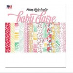 Набор односторонней матовой бумаги Baby Claire, 200х200 мм., 14 листов, Pretty Little Studio, BU001341