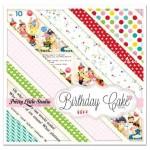 Набор односторонней матовой бумаги Birthday Cake, 200х200 мм., 16 листов, Pretty Little Studio, BU001342