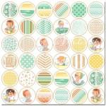 Односторонняя матовая бумага Baby Jack Pattern Paper, 200х200 мм., Pretty Little Studio, BU001343