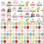 Односторонняя матовая бумага Carrot Cake Pattern Paper, 200х200 мм., Pretty Little Studio, BU001346