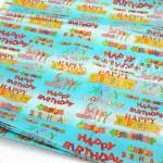 Бумага Тишью, Habby Birthday, мягкая, 660х500 мм., цена за 1 лист., BU001431