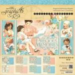 1/3 Набор двусторонней бумаги Precious Memories, 300х300 мм., в наборе 8 листов, Graphic 45, BU001437-1/3