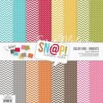 Набор двусторонней плотной бумаги Color Vibe-Brights, 300х300 мм, 8 листов, 2015, Simple Stories. BU001442