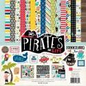 Набор двусторонней плотной бумаги, Pirate's Life by Alisha Gordon, 300x300 мм., 12 листов, и 1 лист высечки-наклейки, 2015, Echo Park, BU001444