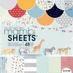 1/2 Набора односторонней матовой бумаги Mambi Single-Sided, 300х300 мм., в наборе 24 листа (24 дизайна), Me&My Big Ideas, BU001497-1/2