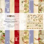 """Набор бумаги """"Сказочное Рождество"""" 10 листов. Mona Design, BU001499"""