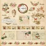 Бумага односторонняя - Открытки, коллекция Сказочное рождество, Mona Design, BU001510