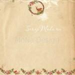Бумага односторонняя - Оленёнок, коллекция Сказочное рождество, Mona Design, BU001513