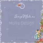 Бумага односторонняя - Рождественские подарки, коллекция Сказочное рождество, Mona Design, BU001514