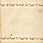 Бумага односторонняя - Праздничные узоры, коллекция Сказочное рождество, Mona Design, BU001517