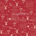 Бумага односторонняя - Яркий день, коллекция Сказочное рождество, Mona Design, BU001519