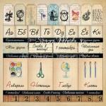 Бумага односторонняя - Карточки, коллекция Школьная пора, Mona Design, BU001524