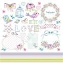 Бумага односторонняя - Карточки, коллекция Fancy Spring, Mona Design, BU001534