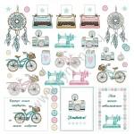 Бумага односторонняя - Карточки, коллекция Живи, Mona Design, BU001537