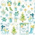 Бумага односторонняя - Карточки, коллекция Новый год, Mona Design, BU001538