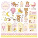 Бумага односторонняя - Карточки-1, коллекция Малышка, Mona Design, BU001540