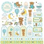 Бумага односторонняя - Карточки-1, коллекция Малыш, Mona Design, BU001542