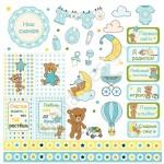 Бумага односторонняя - Карточки-2, коллекция Малыш, Mona Design, BU001543