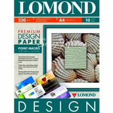 Дизайнерская бумага  для печати Point Macro, текстура Холст, белая, матовая, размер А4, цена за 1 лист. Lomond. BU001564