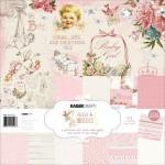 Набор двусторонней бумаги Peek-A-Boo Girl, 300x300 мм., 12 листов, 160 gsm, 1 лист высечки-наклейки, Kaiser Craft, BU001566