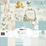 Набор двусторонней бумаги Peek-A-Boo Boy, 300x300 мм., 12 листов, 160 gsm, 1 лист высечки-наклейки, Kaiser Craft, BU001567