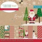 Набор Craft бумаги The Crafty Christmas, 300x300 мм., 24 листа, 160 gsm, 24 листа разного дизайна, DCWV, BU001572