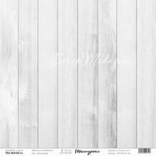 """Лист Белое дерево, коллекция """"Текстурная"""", односторонняя, размер 30,5 на 30,5 см., плотность 190 гр/м2, TEA-MOOD, BU001591"""