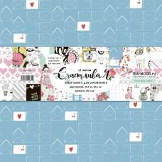 "Набор бумаги ""Счастливая"" 30,5 на 30,5 см, двусторонняя бумага. TEA-MOOD, BU001597"