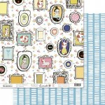 """Лист В рамочках, коллекция """"Счастливая"""", двусторонняя бумага для скрапбукинга, размер 30,5 на 30,5 см., плотность 190 г/м2, TEA-MOOD, BU001600"""